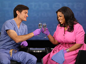 Oprah toasts Dr. Oz.