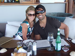Kelly Ripa and Mark Consuelos in Turks and Caicos