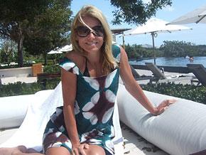 Kelly Ripa in Turks and Caicos