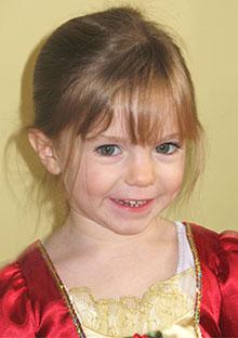Madeleine McCann, age 3