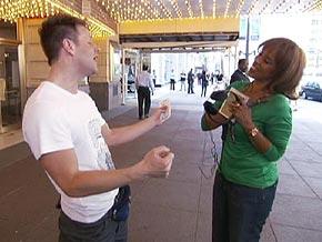 Gayle King surprises Bernard LaChance.