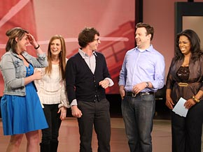 Jackie, Andy Samberg, Kristen Wiig, Jason Sudeikis and Oprah