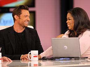 Oprah and Hugh Jackman
