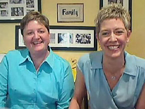 Maryfrances and Stephanie were one of the first in line for a marriage license.