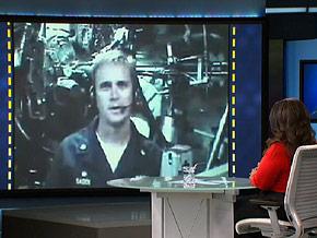 Navy commander John Sager on Skype