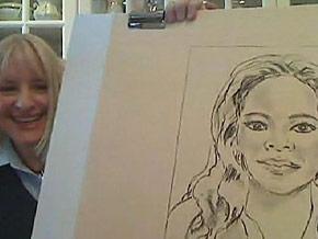 Barbara calls herself a Skype sketcher.