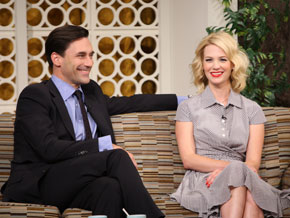 Jon Hamm and January Jones, stars of Mad Men