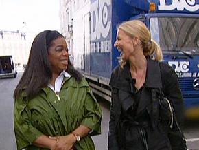 Oprah tours Copenhagen, Denmark, with Nanna.