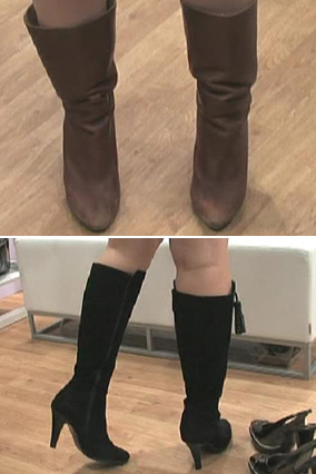 Ashley's shoes, before and after