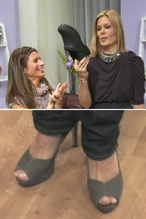 Laurie's shoes, before and after