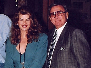 Kirstie Alley with the owner of Dean's Designs