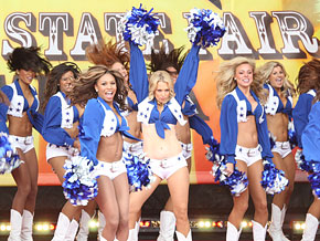 Ali Wentworth and the Dallas Cowboys cheerleaders