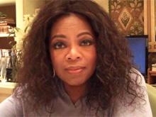 Oprah in her office