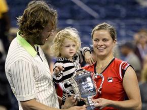 2009 U.S. Open champion Kim Clijsters