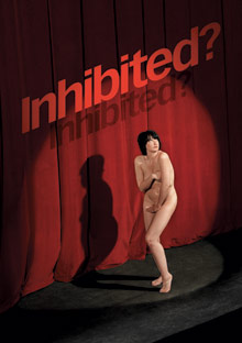 Naked woman in the spotlight