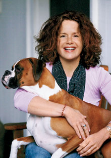 Laure Redmond and her dog Dylan
