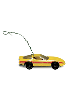 Turn those old toys into Christmas tree ornaments.